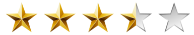 Image result for 3.5 stars